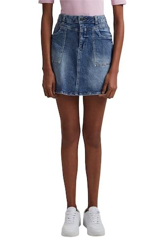 edc by Esprit Jeansrock, mit aufgesetzten Taschen und in cooler Waschung kaufen