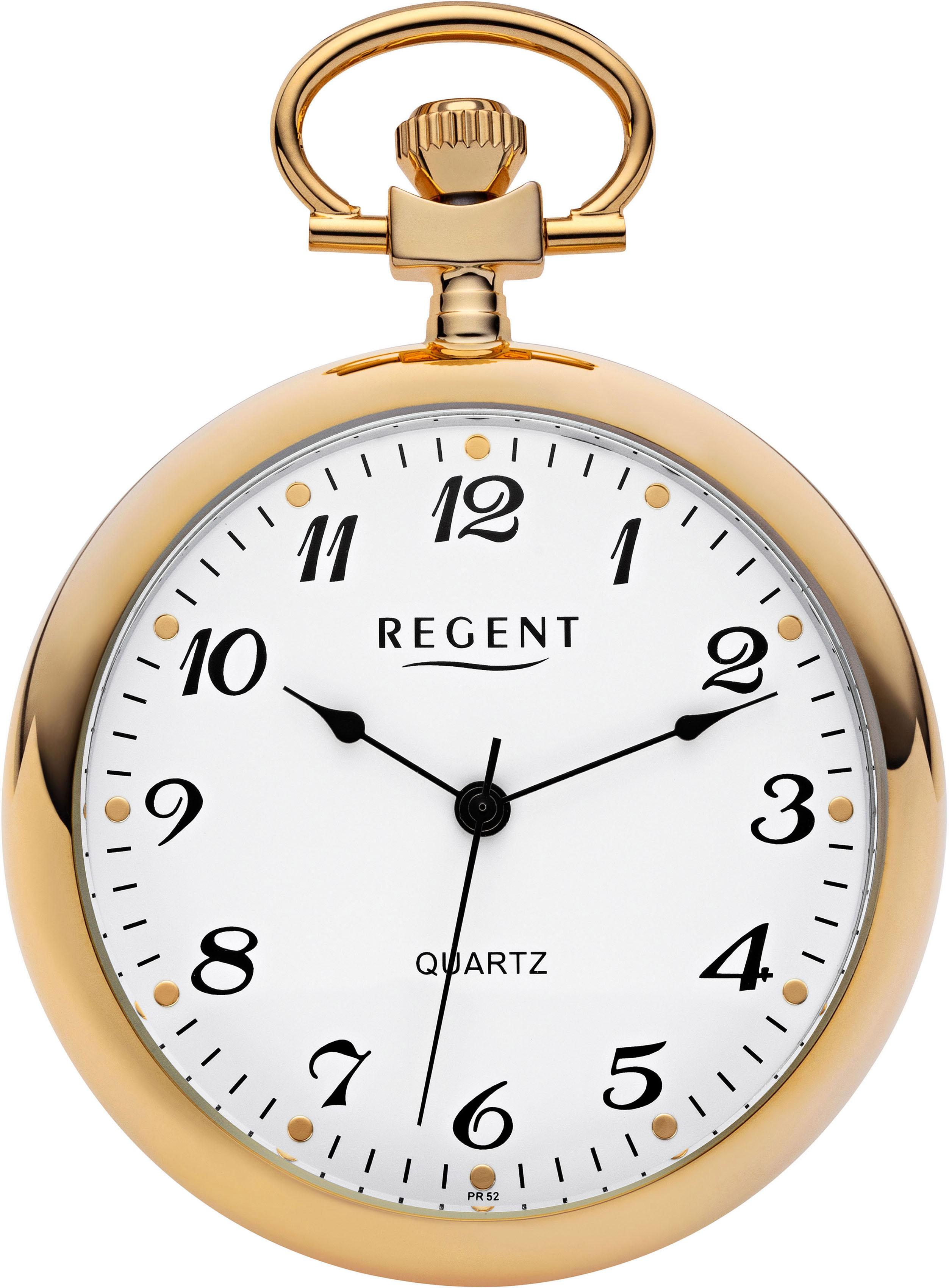 Regent Taschenuhr 11270015 (Set 2 tlg inkl Kette) | Uhren > Taschenuhren | Goldfarben | Regent