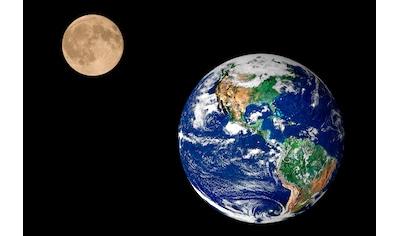 Papermoon Fototapete »Earth and Moon«, matt, BlueBack, 7 Bahnen, 350 x 260 cm kaufen
