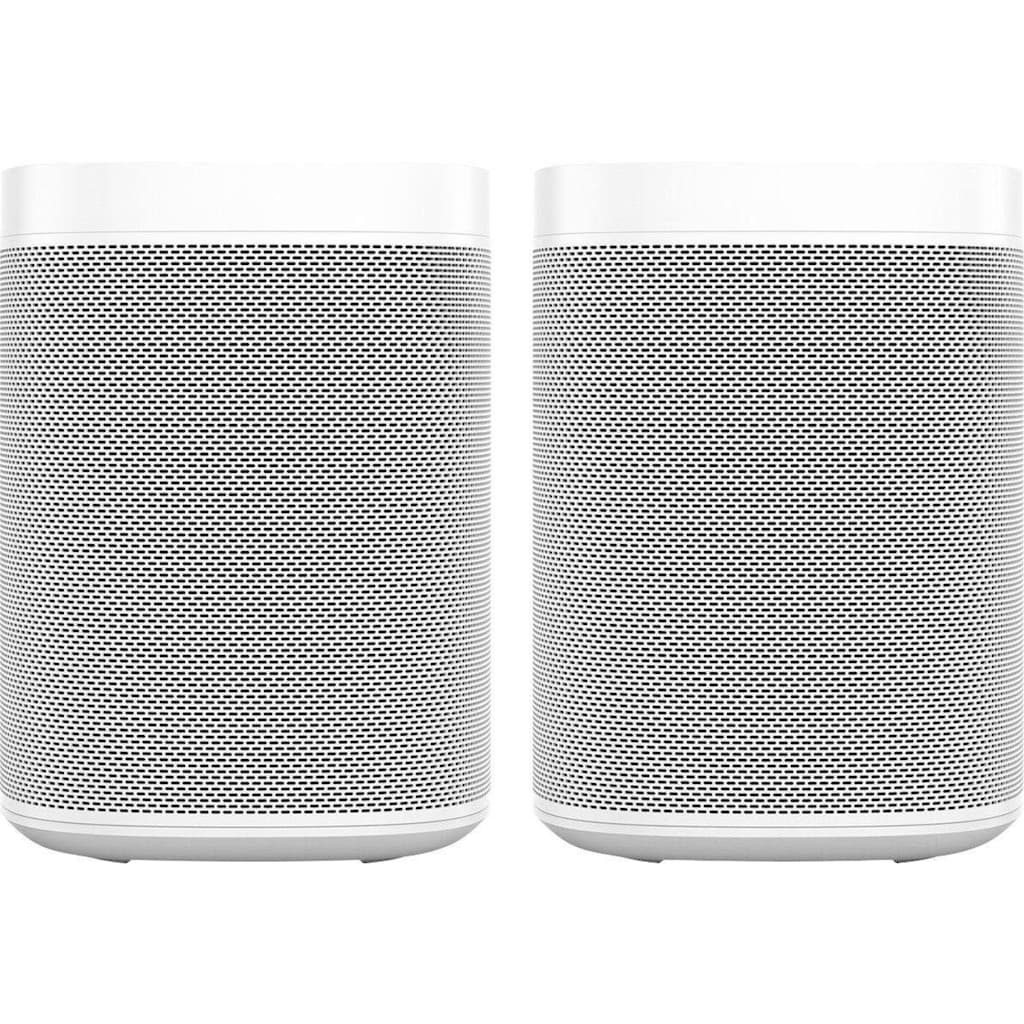 Sonos Smart Speaker »One Gen2«, mit integrierter Sprachsteuerung, 2-er Set