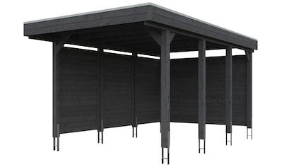 SKANHOLZ Einzelcarport »Friesland Set 1«, BxT: 314x555 cm, mit Seiten -  und Rückwand kaufen