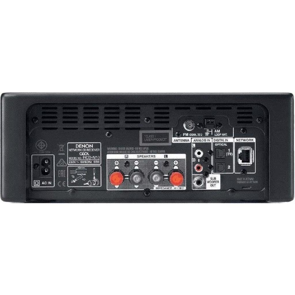 Denon Kompaktanlage »RCD-N10«, Bluetooth-WLAN-CD, USB-Audiowiedergabe