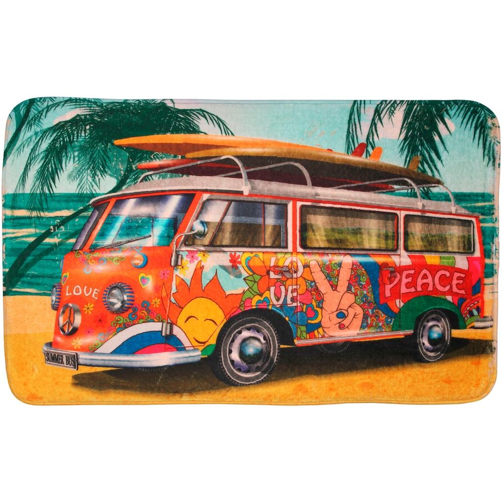 Sanilo Badematte »Summer Bus«, Höhe 15 mm, schnell trocknend, Memory Schaum