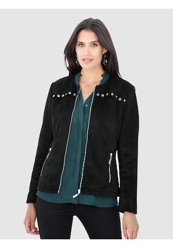 Laura Kent Lederimitat-Jacke mit Nietenbesatz kaufen