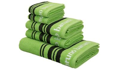 Bruno Banani Handtuch Set »Daniel«, mit Streifen und Markenlogo kaufen