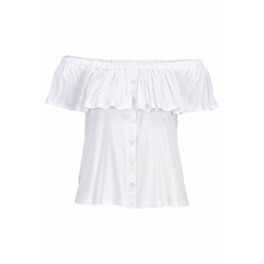 Buffalo Strandshirt, im Carmenstil mit Volant