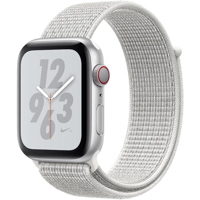 Apple Nike+ Series 4 GPS + Cellular, Aluminiumgehäuse mit Nike Sportarmband Loop 44mm Watch (Watch OS 5)