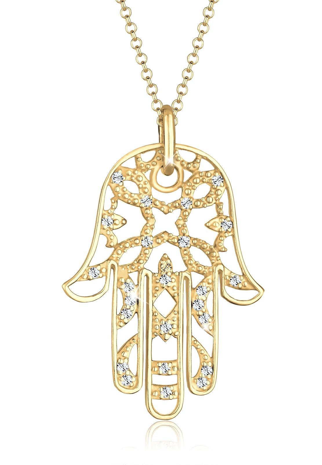 Elli Statementkette »Hamsa Hand Swarovski® Kristalle 925 Silber« bestellen | BAUR
