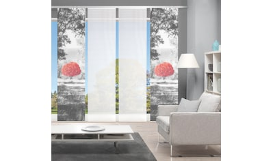 Vision Schiebegardine »AMENO 4er SET«, Bambus-Optik, Digital bedruckt kaufen