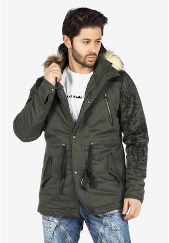 Cipo & Baxx Winterjacke, mit Kapuze und Stickereien kaufen