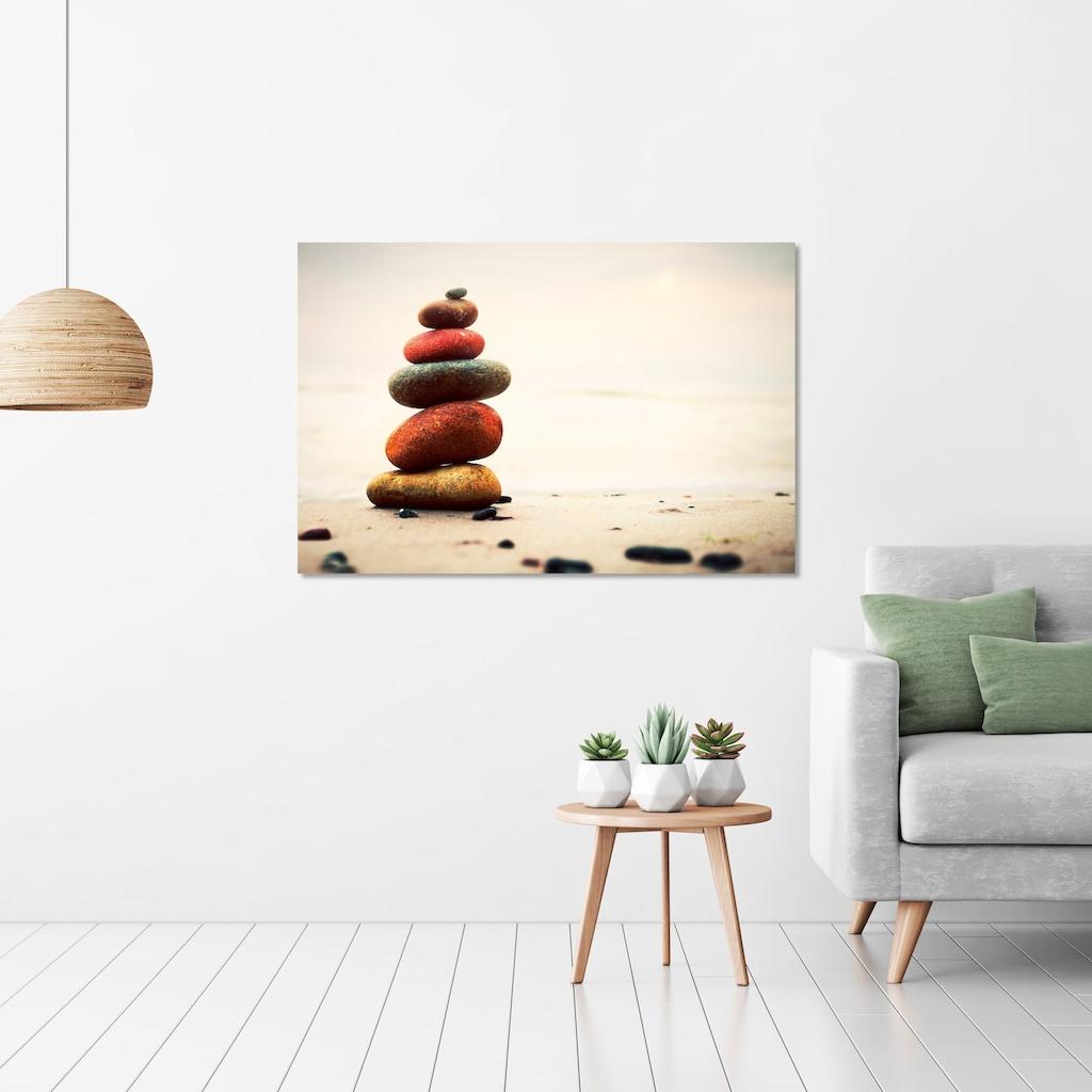 Art & Pleasure Holzbild »Stones in harmony«, Landschaften