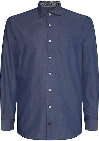 TOMMY HILFIGER Langarmhemd »SOLID WASHED SLIM SHIRT« kaufen