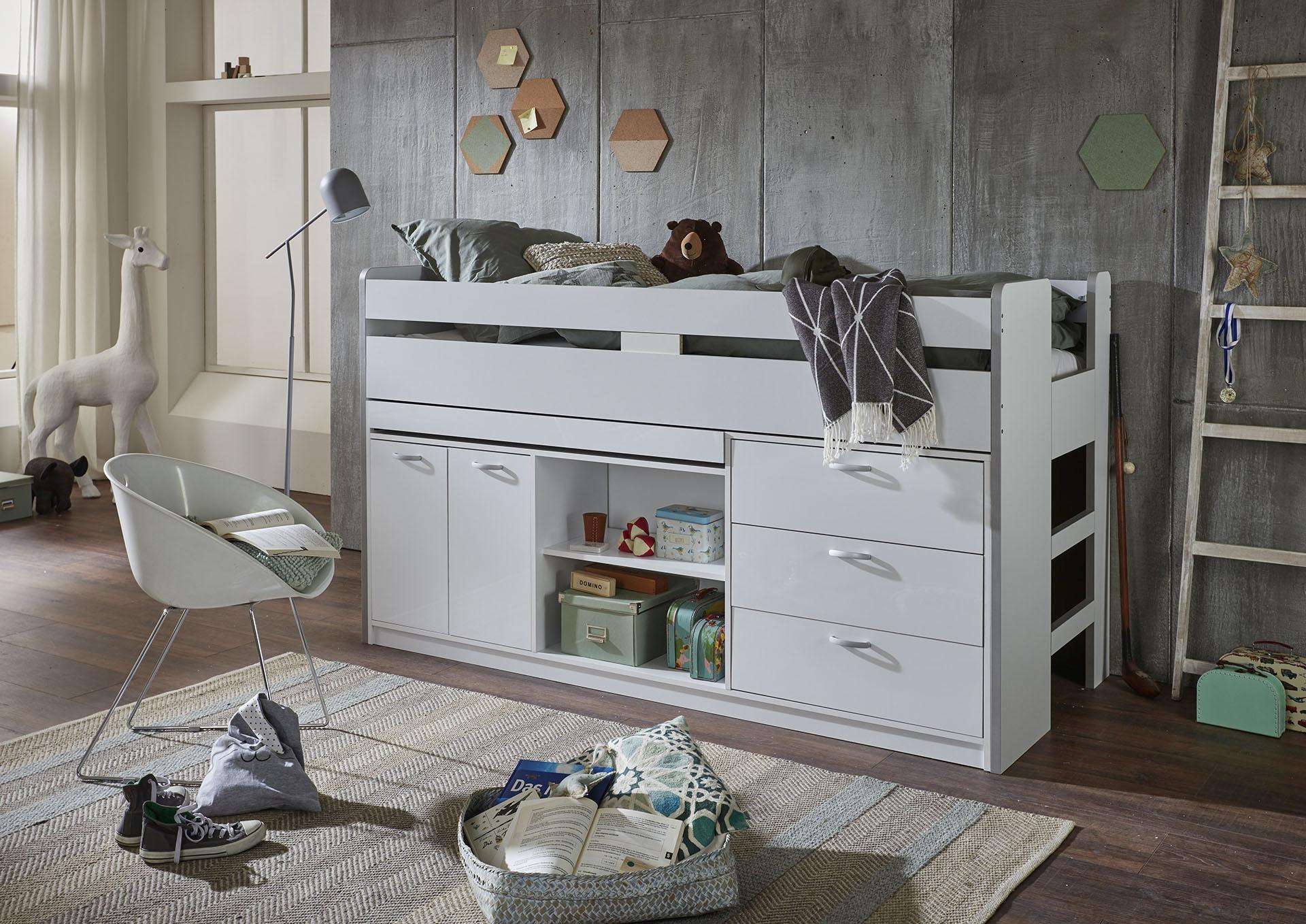 Relita Hochbett weiß Kinder Kinderbetten Kindermöbel