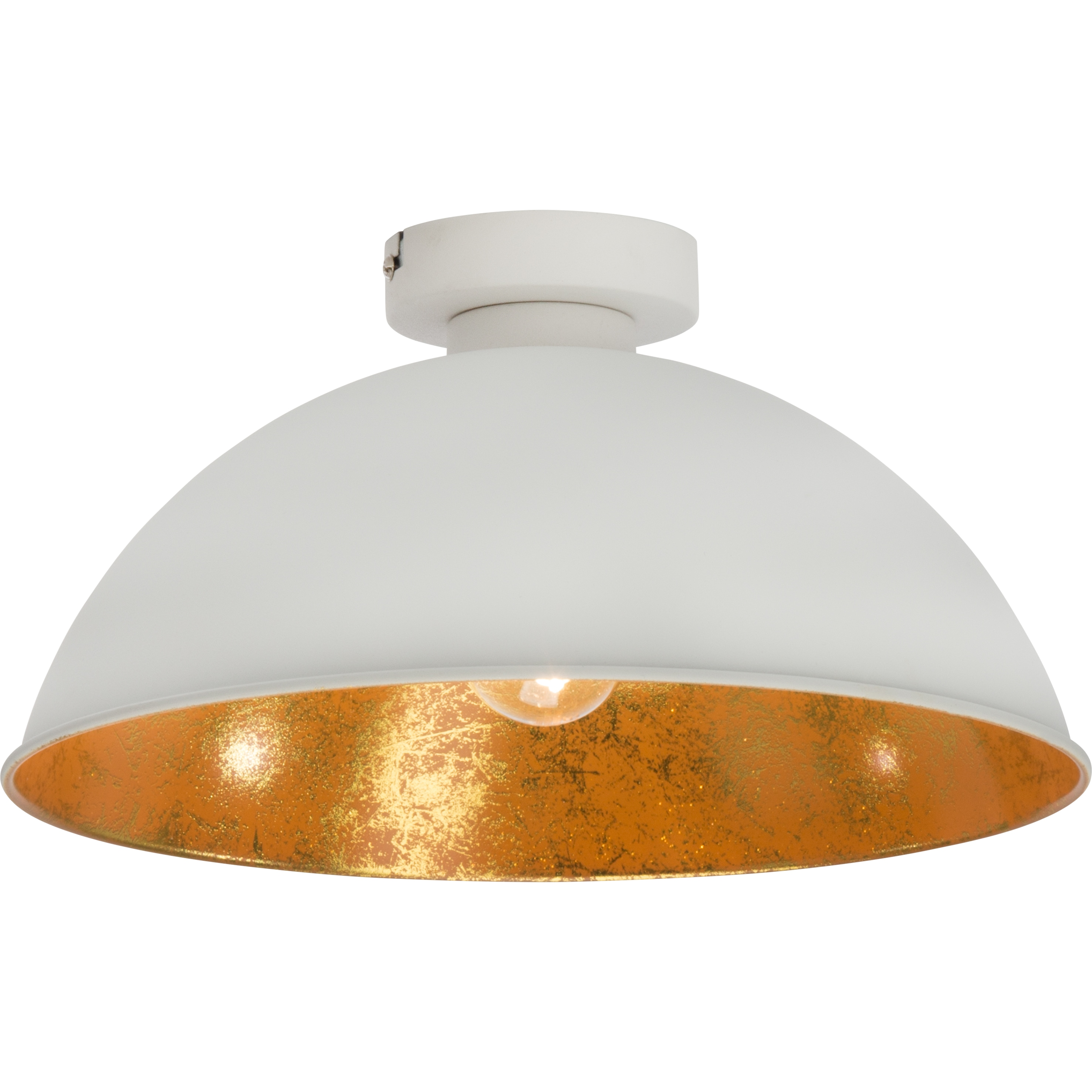 Brilliant Leuchten Aztekas Deckenleuchte 1flg weiß/gold