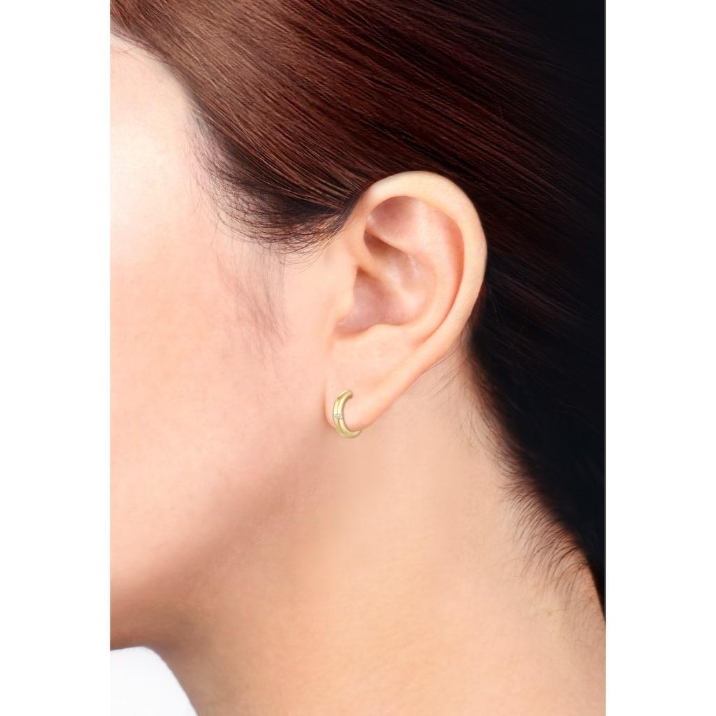 Diamore Paar Creolen »Creolen Diamanten (0.03 ct.) Edel 585er Gelbgold«