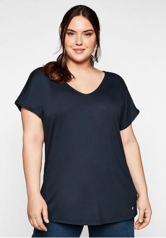 Sheego T-Shirt, mit Spitzendetails kaufen
