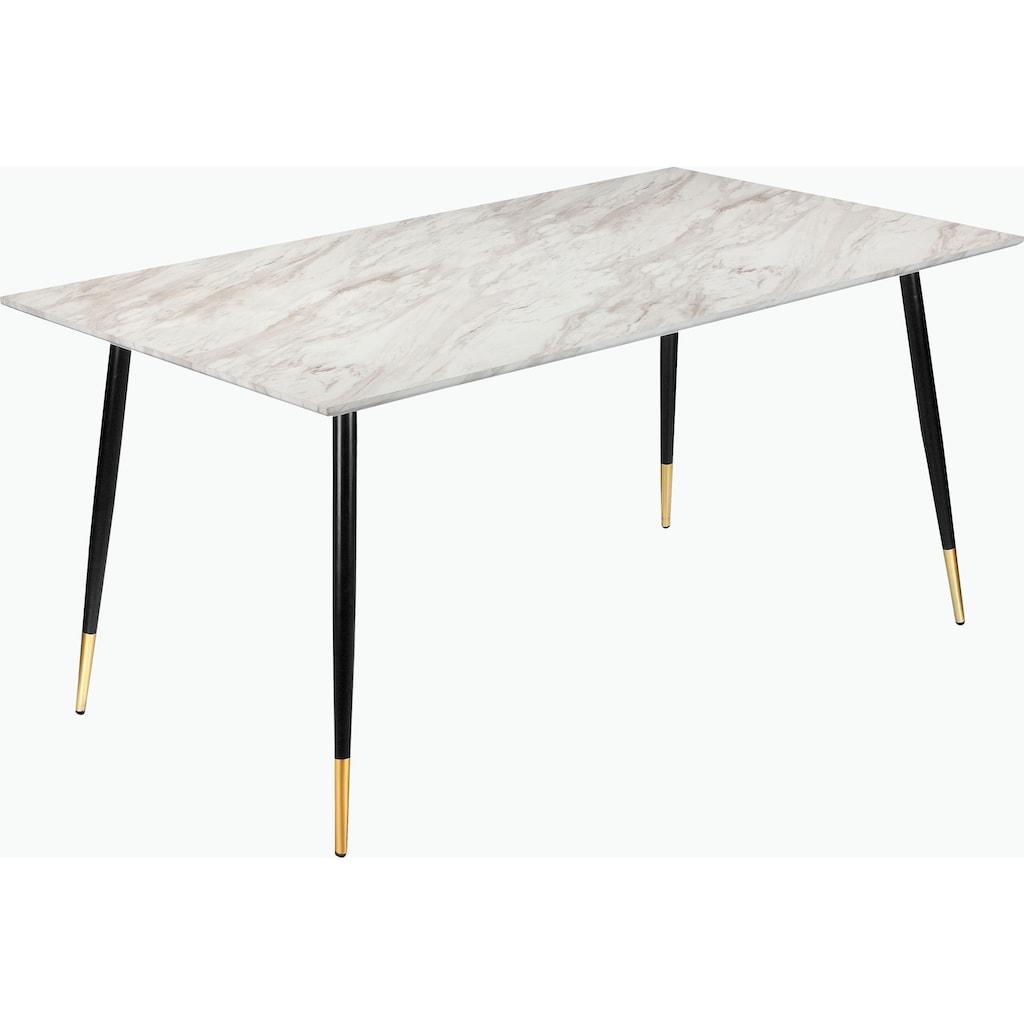 Leonique Essgruppe »Eadwine«, (Set, 5 tlg.), bestehend aus Eadwine Esstisch 160 cm und 4 Eadwine Esszimmerstühlen