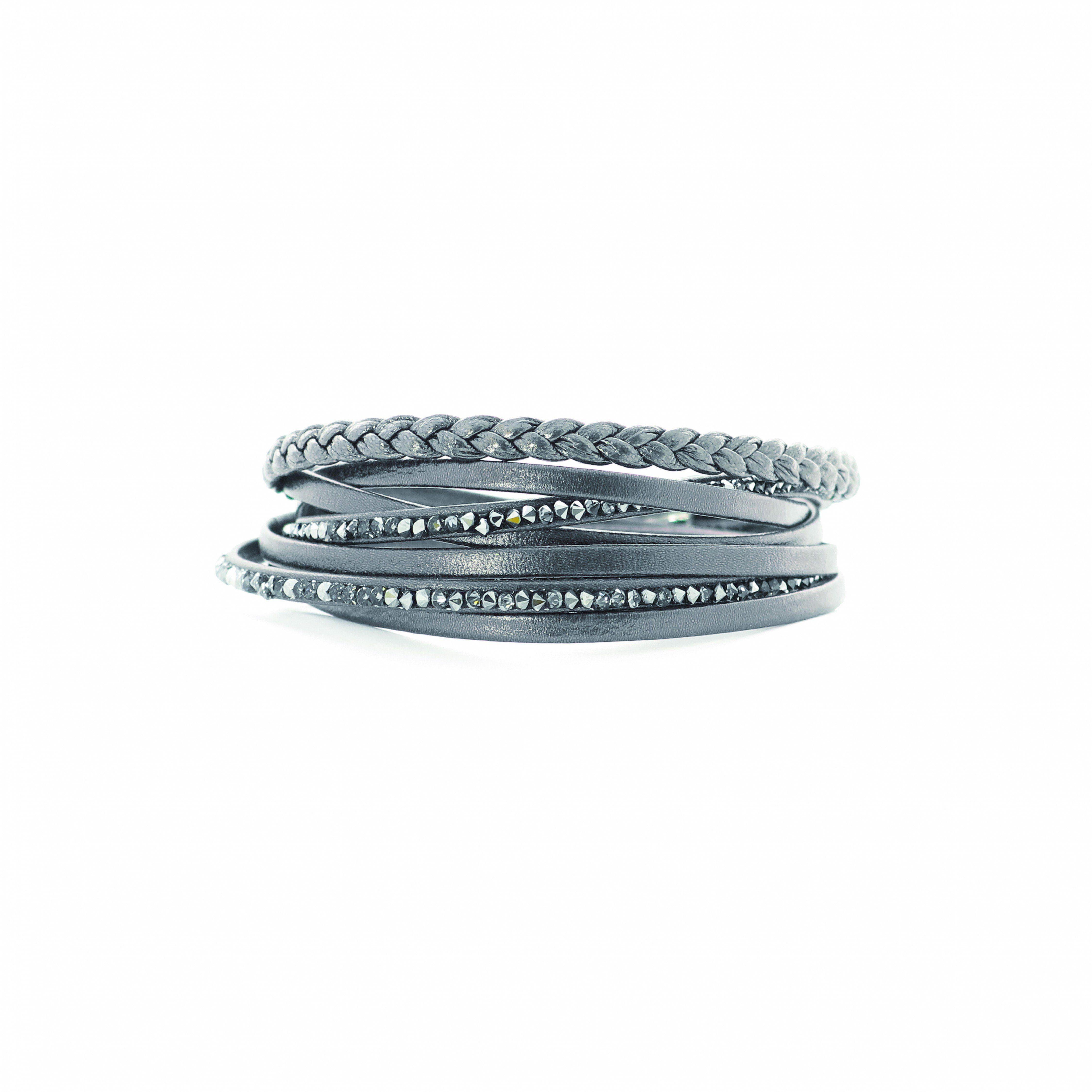 LOVING CRYSTAL Lederarmband Damenmode/Schmuck & Accessoires/Schmuck/Armbänder/Lederarmbänder