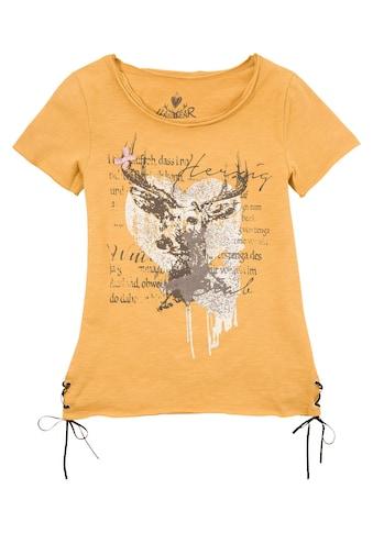 Hangowear Trachtenshirt Damen mit Aufdruck und Glitzersteinchen kaufen
