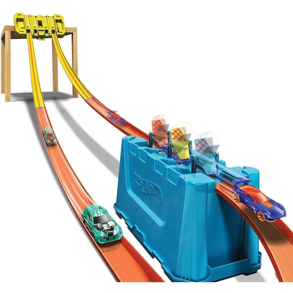 Hot Wheels Autorennbahn »Track Builder Unlimited Mehrspurige Speed Box«, inkl. 1 Spielzeugauto