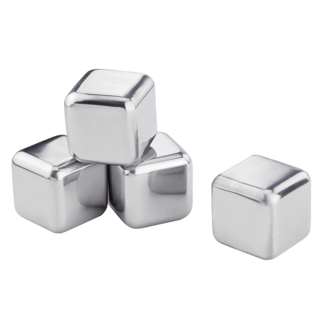 Contento Eiswürfelform »Edelstahl-Eiswürfel«, (Set, 4 St.), in Geschenkbox