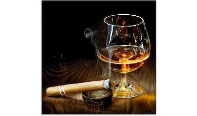 Artland Glasbild »Zigarre und Cognac«, Zigarren, (1 St.) kaufen
