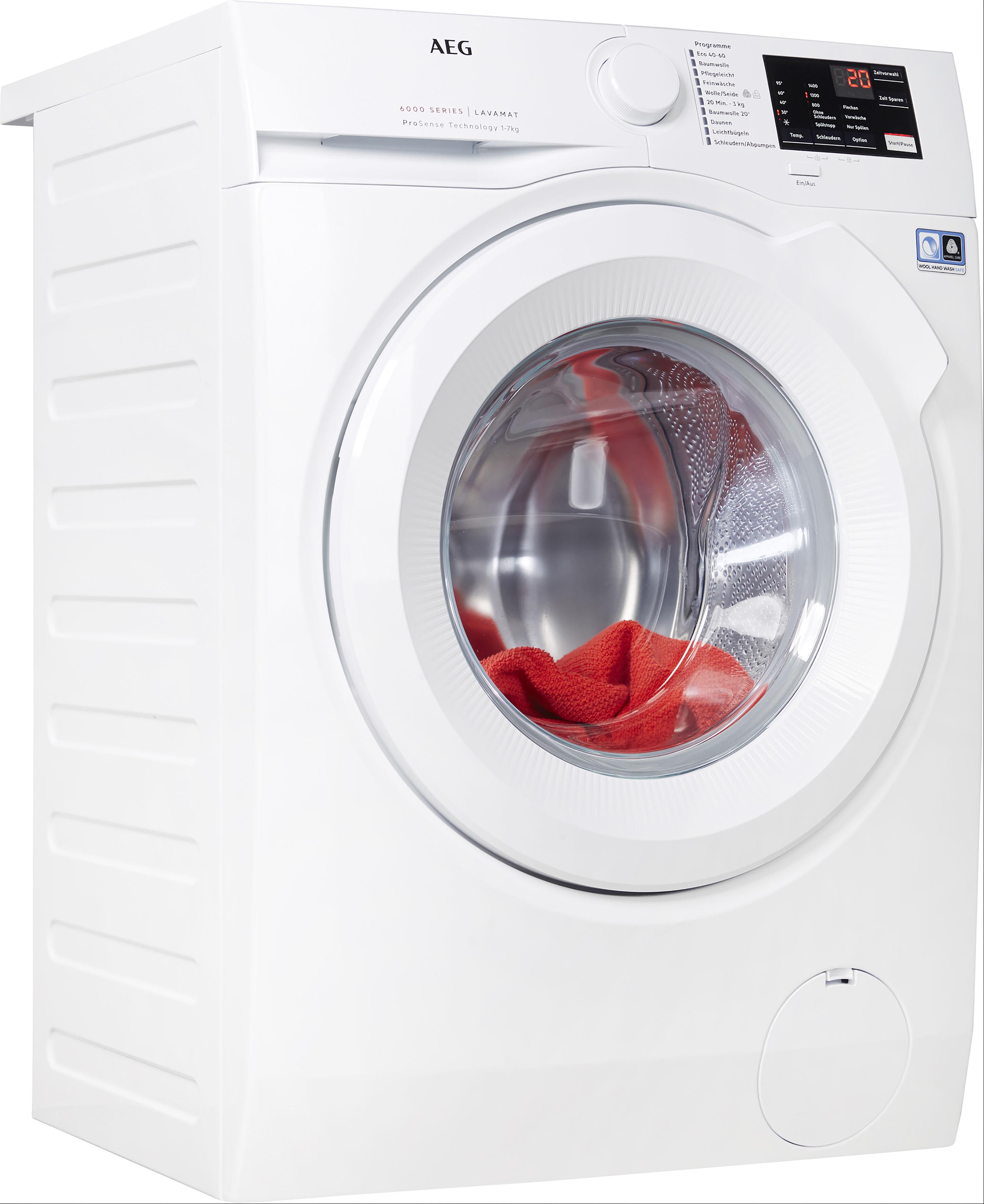 AEG Waschmaschine, L6FBA5470 EEK A+++ weiß Waschmaschinen Haushaltsgeräte Waschmaschine