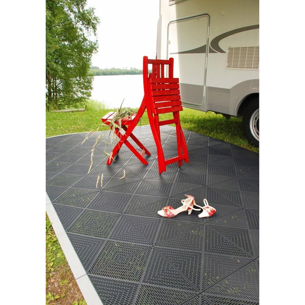 Bergo Flooring Terrassenplatten »Unique Anthrazit«, Kunststofffliesen, einfach ineinanderstecken, 5 m²