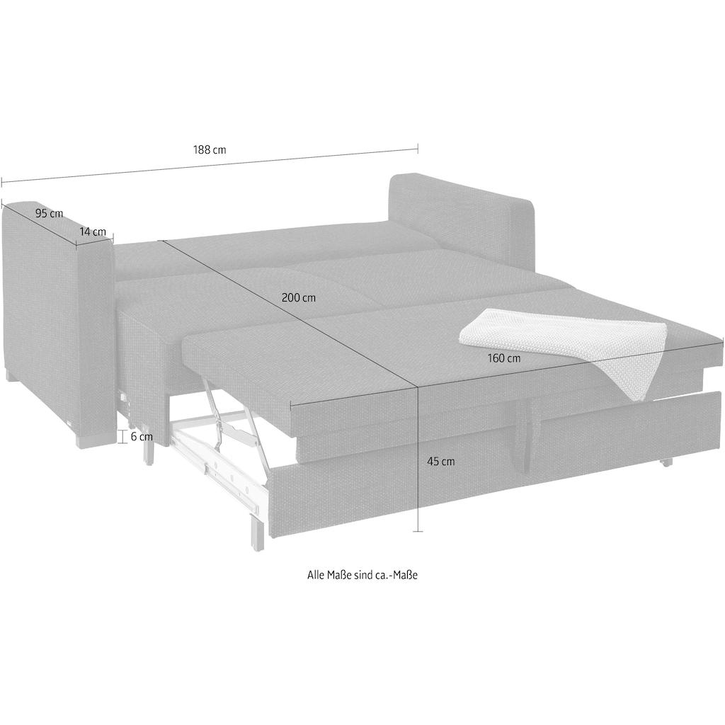 reposa Schlafsofa »Burano«, mit Bettkasten, Liegebreite 160 cm