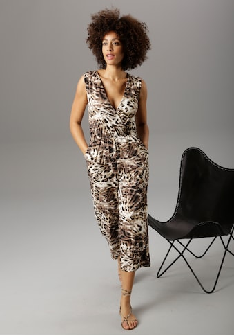 Aniston SELECTED Culotte-Overall, im Animal-Print kaufen