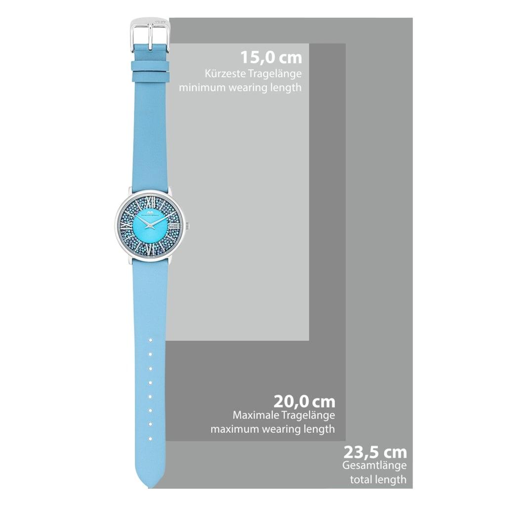 Rhodenwald & Söhne Quarzuhr »RWS028«, (1 tlg.), verziert mit Kristallen von Swarovski®