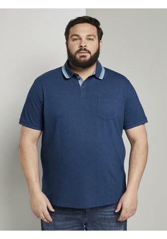 TOM TAILOR Men Plus Poloshirt »Poloshirt mit Brusttasche« kaufen