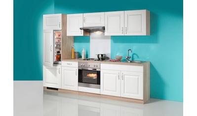 wiho Küchen Küchenzeile »Tilda«, mit E-Geräten, mit Glaskeramik-Kochfeld, Breite 270 cm kaufen