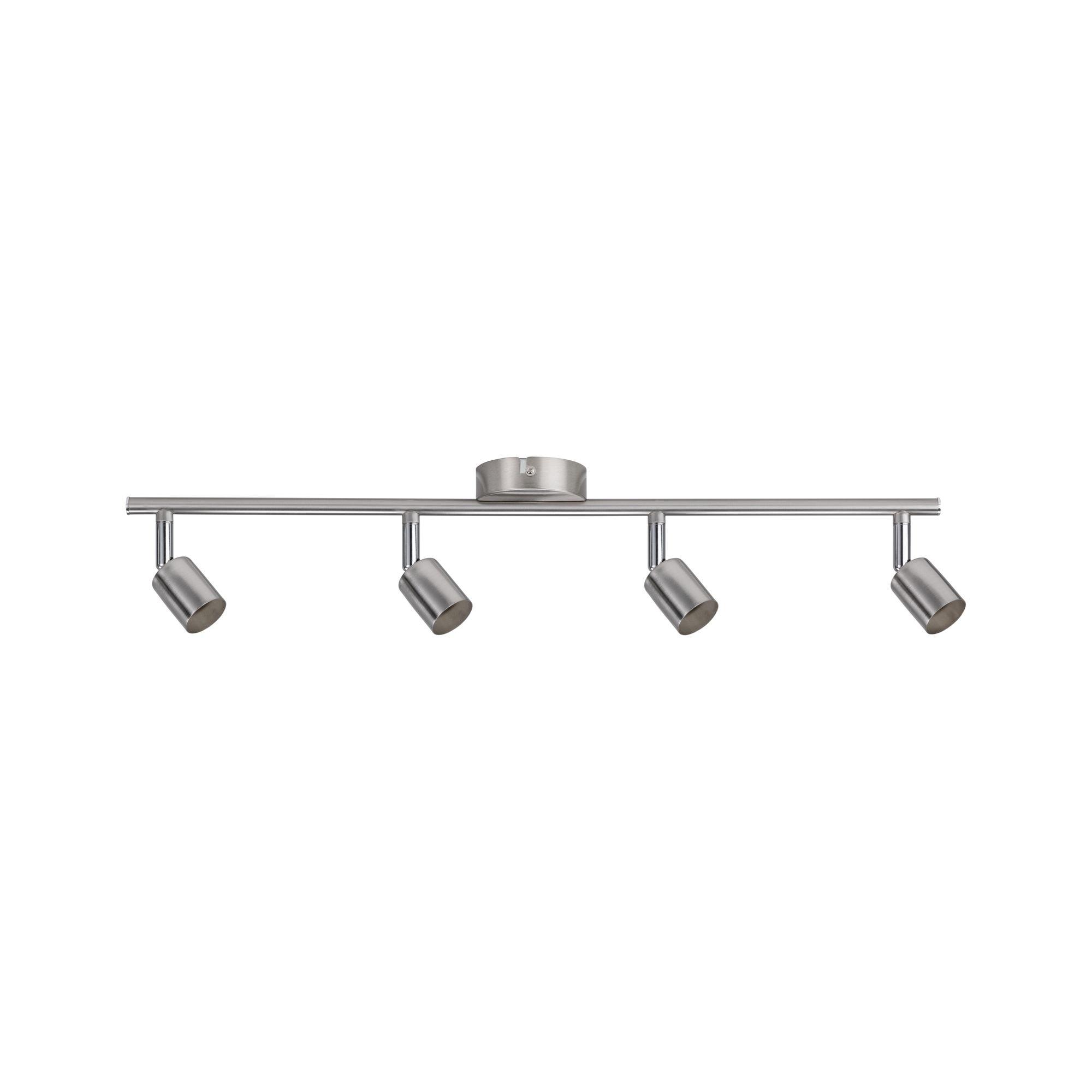 Paulmann LED Deckenleuchte 4er-Spot Carolina GU10, max 10W Nickel matt, GU10