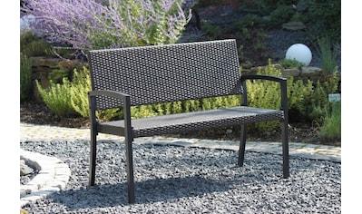 Gartenbank »Sanremo«, Polyrattan, 118x60x87 cm, dunkelbraun kaufen