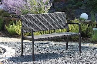 gartenbank sanremo polyrattan 118x60x87 cm. Black Bedroom Furniture Sets. Home Design Ideas