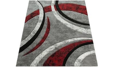 Paco Home Teppich »Brillance 758«, rechteckig, 18 mm Höhe, Kurzflor mit geometrischem Design, Wohnzimmer kaufen