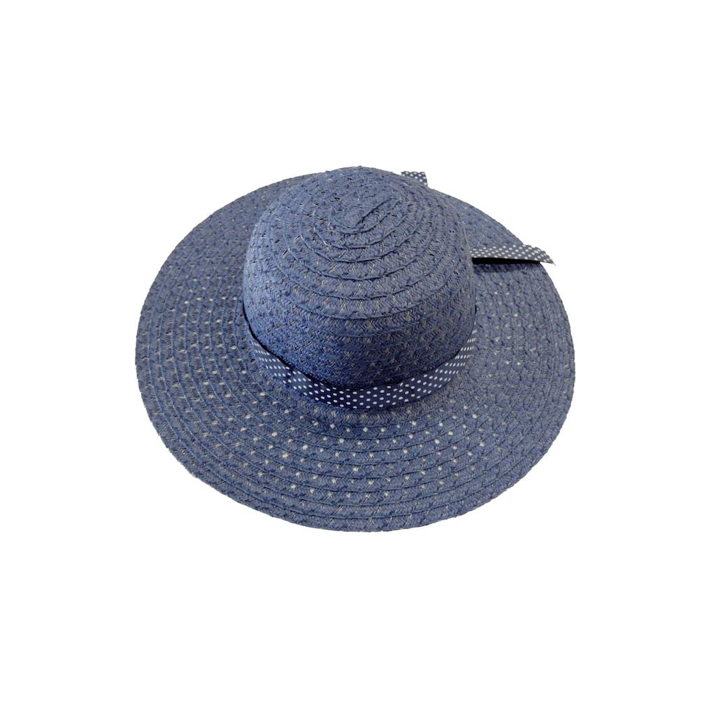 Chaplino Strohhut, mit gepunktetem Hutband