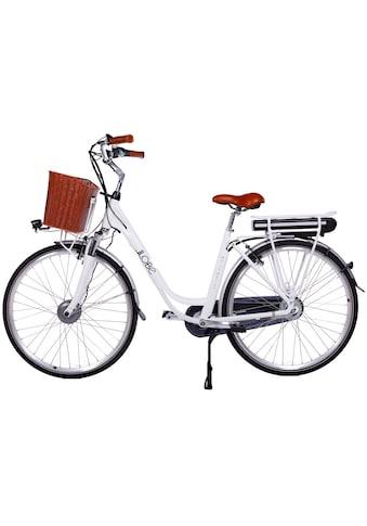 LLobe E-Bike »White Motion 2.0, 10,4Ah«, (mit Fahrradkorb) kaufen