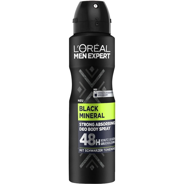 "L'ORÉAL PARIS MEN EXPERT Deo-Spray ""Black Mineral"""