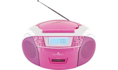 Schwaiger CD - Player mit Radio FM Kasette MP3 USB Anschluss AUX Kopfhörer »UKW Stereo Boombox« kaufen