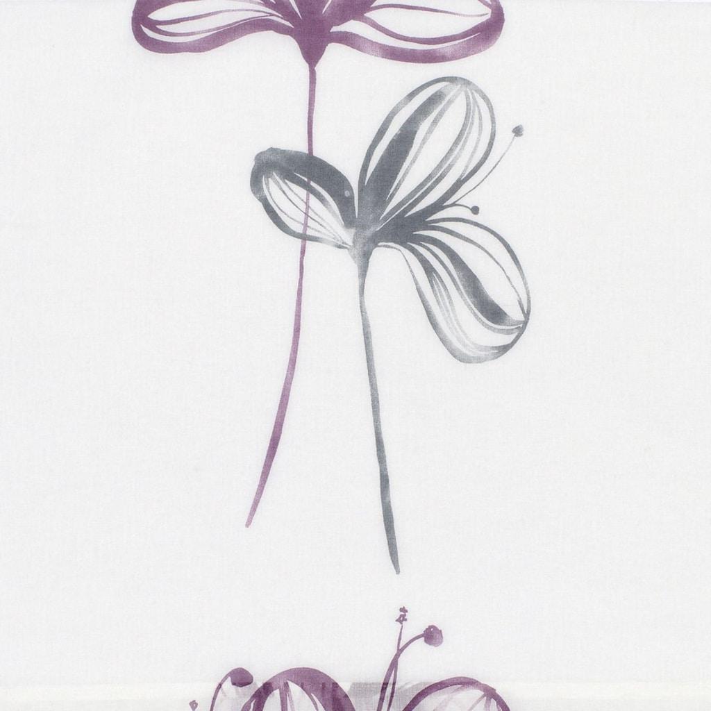GARDINIA Schiebegardine »Flächenvorhang Stoff Flower mit weißen Paneelwagen«, HxB: 245x60