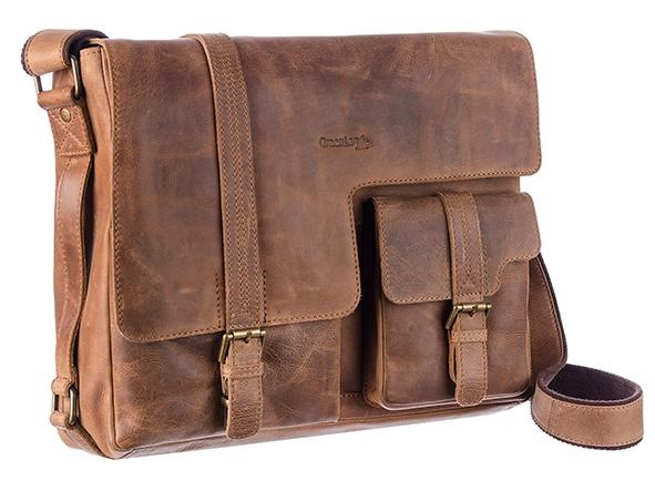 GreenLand Nature Messenger Bag MONTENEGRO | Taschen > Business Taschen | Braun | Greenland Nature