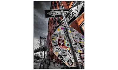 Artland Glasbild »New York Street Fotografie«, Amerika, (1 St.) kaufen