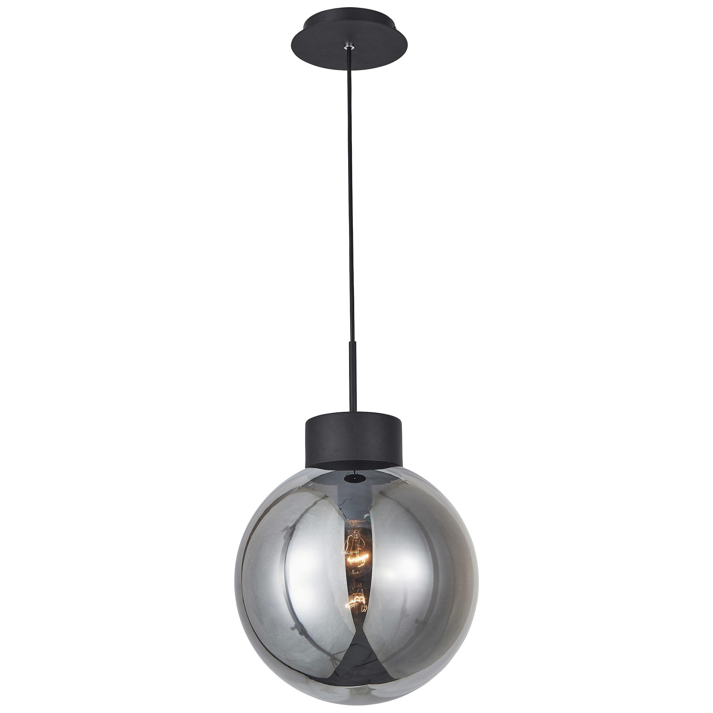 Brilliant Leuchten Astro Pendelleuchte 30cm schwarz/rauchglas