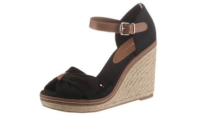 Tommy Hilfiger High-Heel-Sandalette »ICONIC ELENA SANDAL«, mit verstellbarer Schnalle kaufen