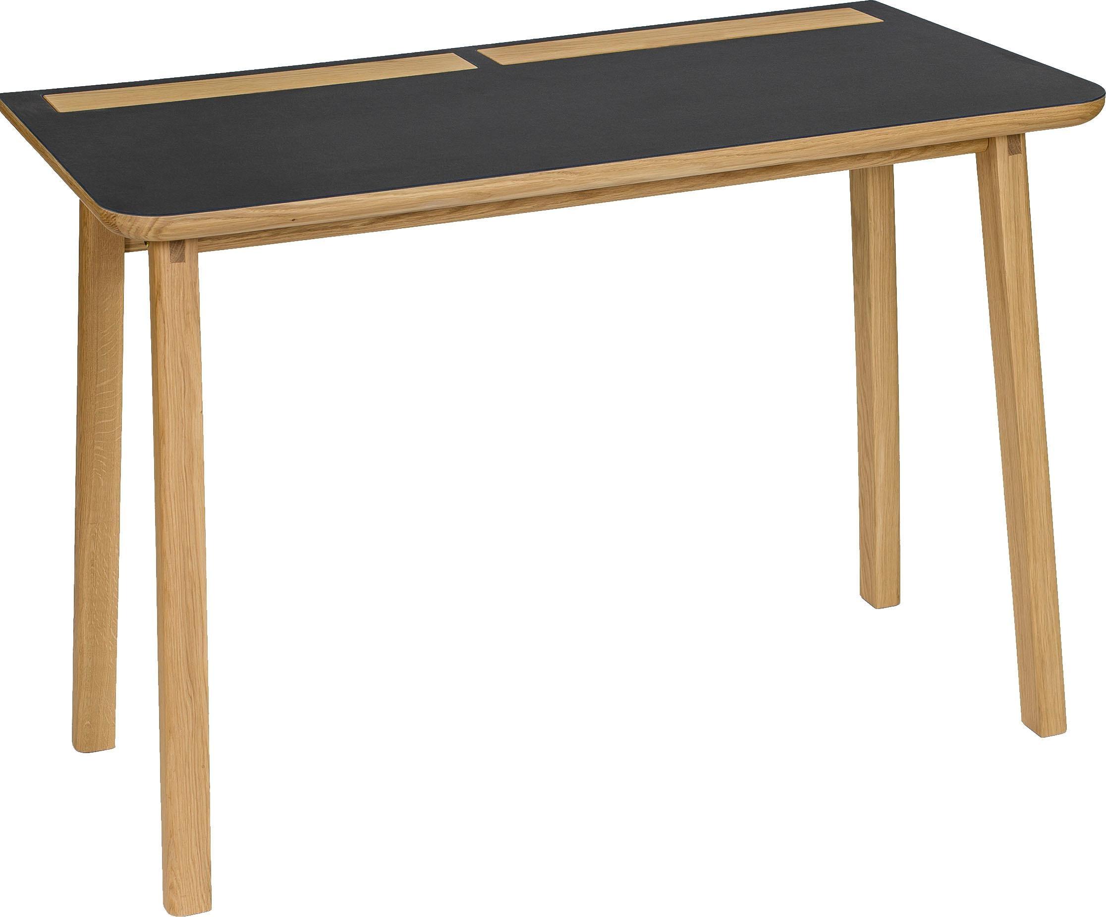 Woodman Schreibtisch Mati Mit Zwei Ledertaschen An Der Seite Des Tisches Fur Gute Stauraummoglichkeiten Breite 115 Cm