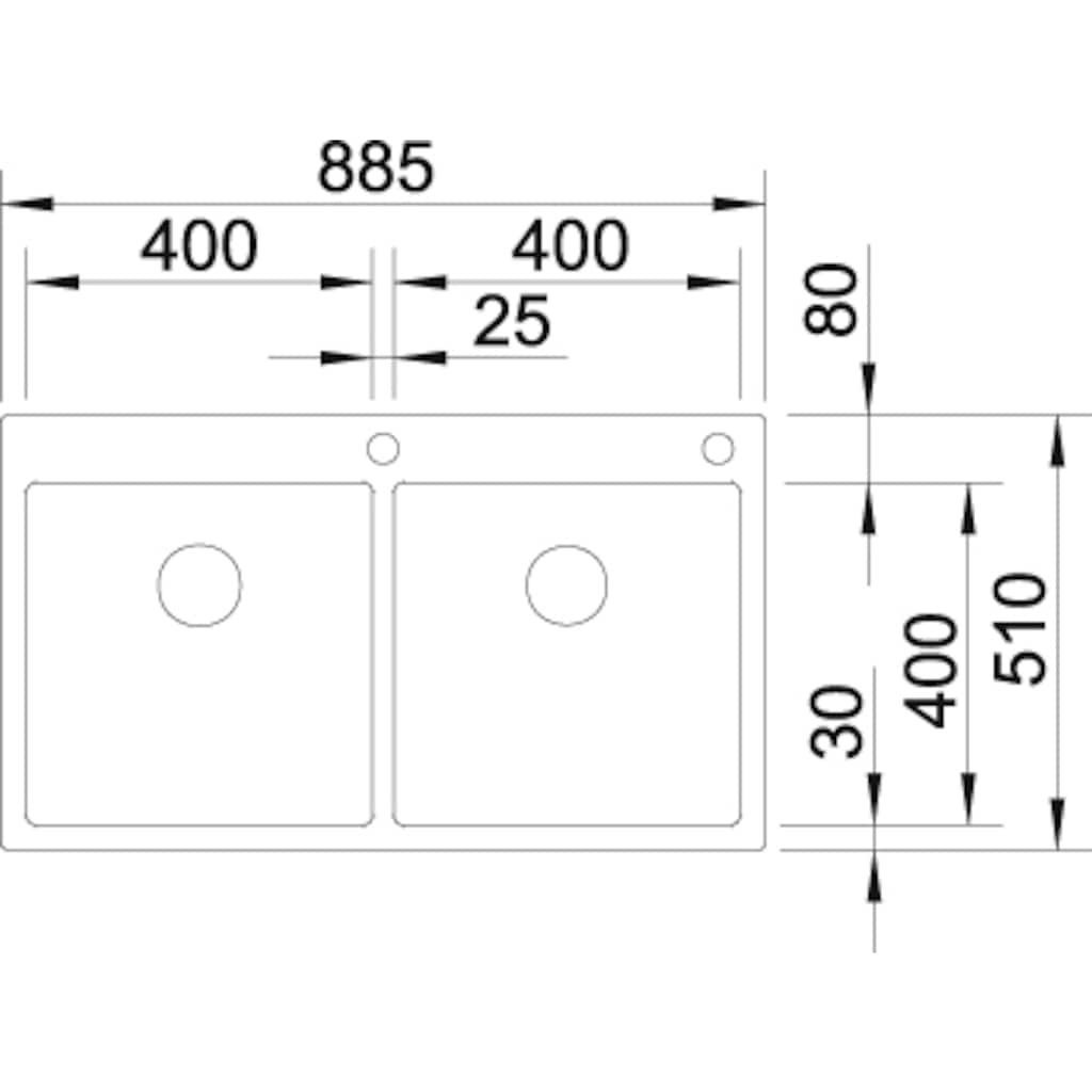 Blanco Küchenspüle »CLARON 400/400-IF/A«