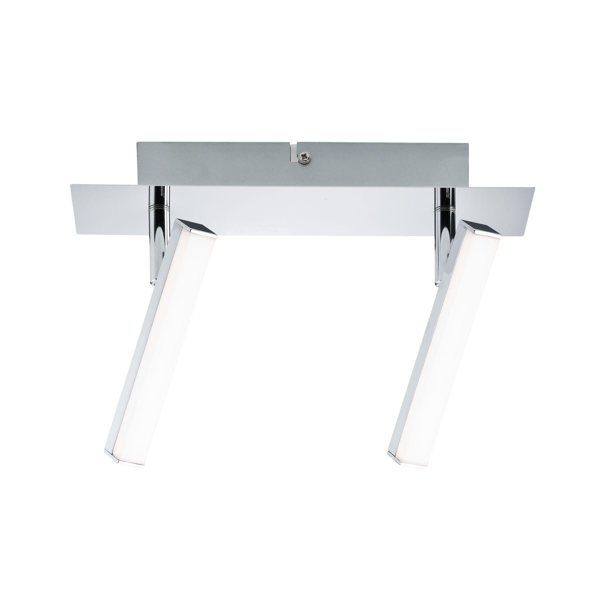 Paulmann LED Deckenleuchte 2er-Spot Chrom Silberfarben Pole 2x4,2W, 1 St., Warmweiß