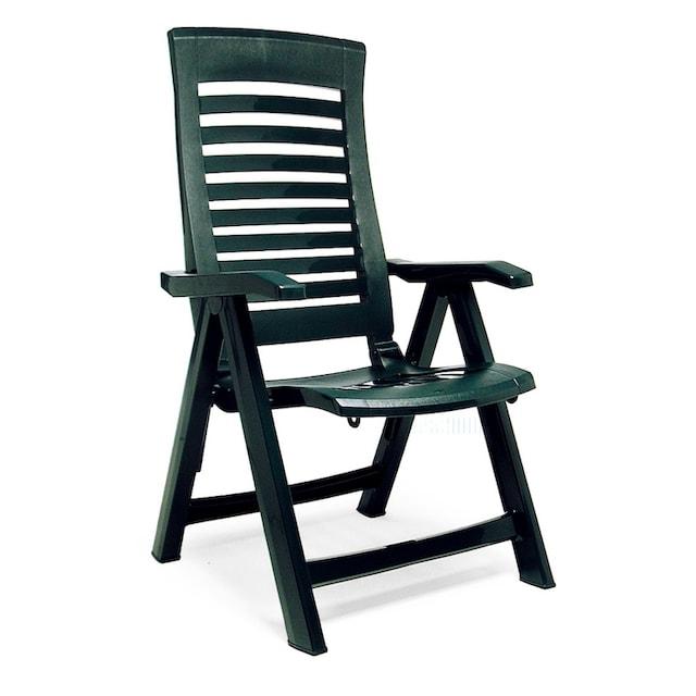 BEST Gartenstuhl »Forida«, (2er Set), Kunststoff, verstellbar, grün